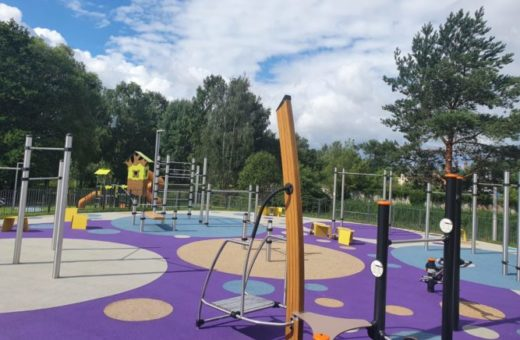 Children's playground in Jaunmarupe